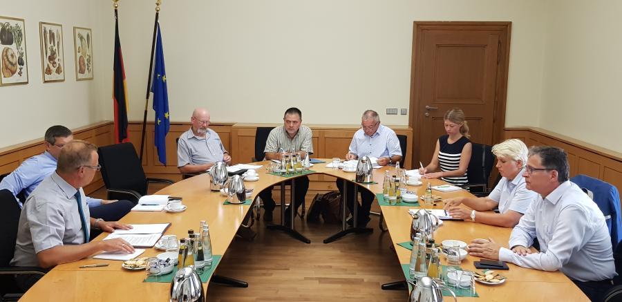 Uckermärker Landwirte im Bundeslandwirtschaftsministerium