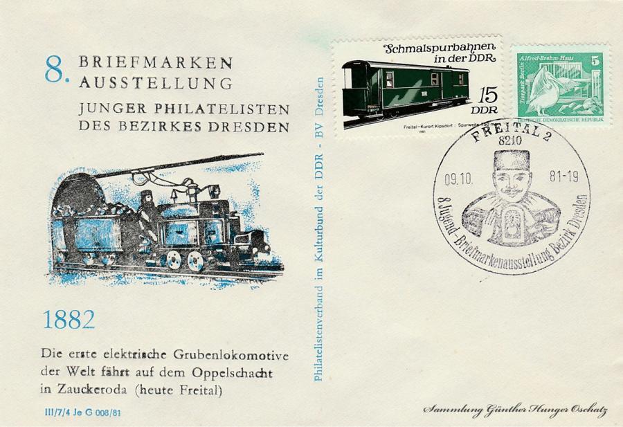 8. Briefmarken Ausstellung junger Philatelisten des Bezirkes Dresden