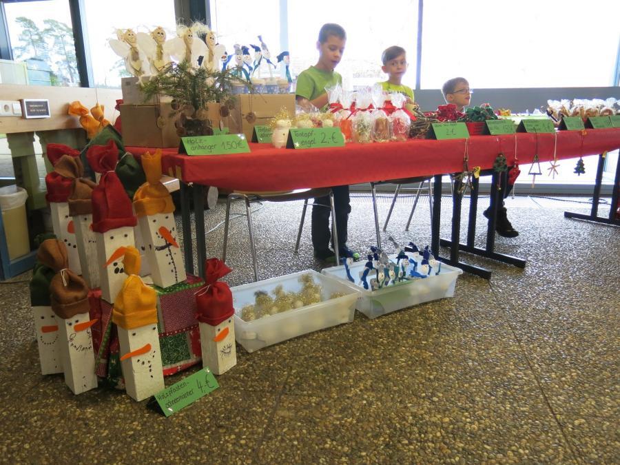 Weihnachtsbasar Stand Klasse 2