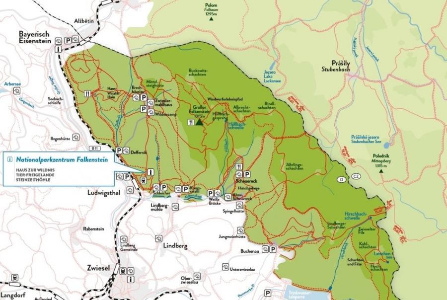 Nationalparkgebiet rund um Bayerisch Eisenstein