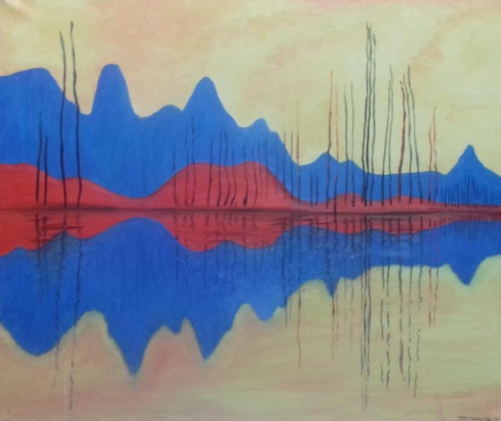 Der See2002 Öl auf Leinwand119 x101 cm