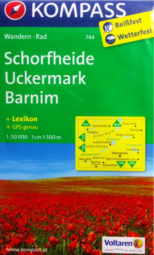 KOMPASS Wanderkarte Schorfheide/Uckermark/Barnim