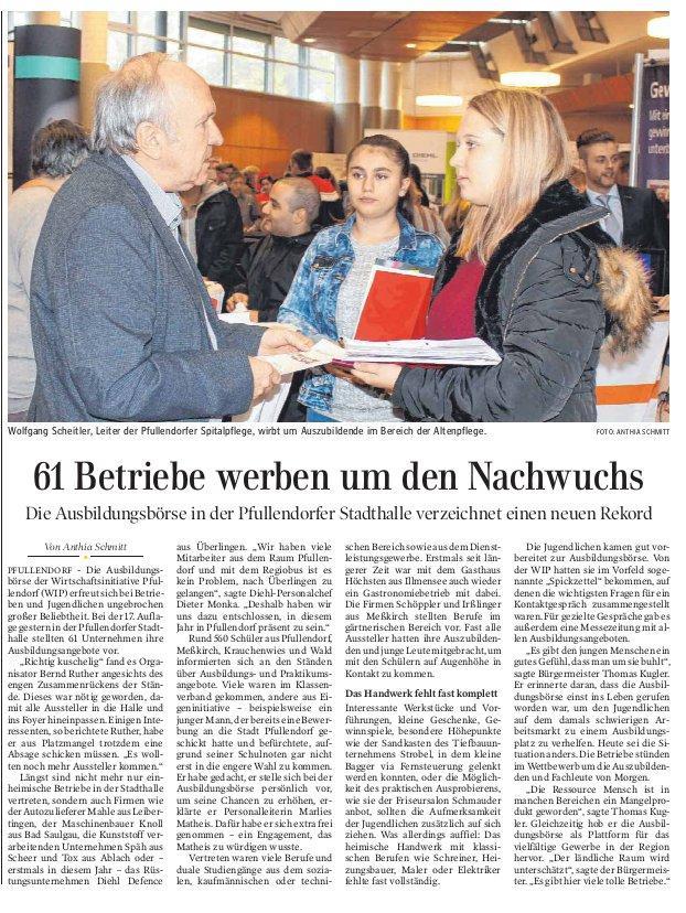 Schwäbische Zeitung 12. Oktober 2018