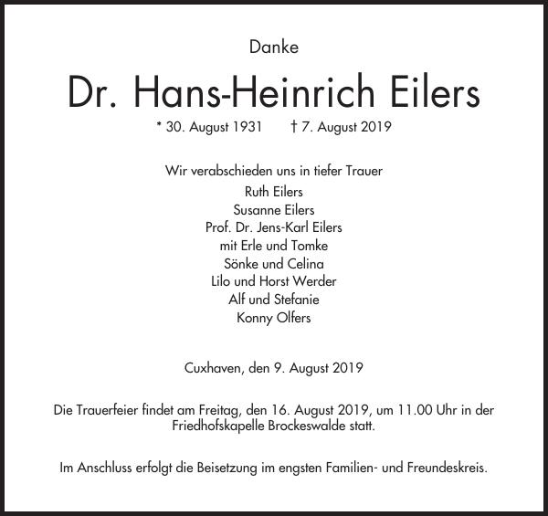Dr. Hans-Heinrich Eilers