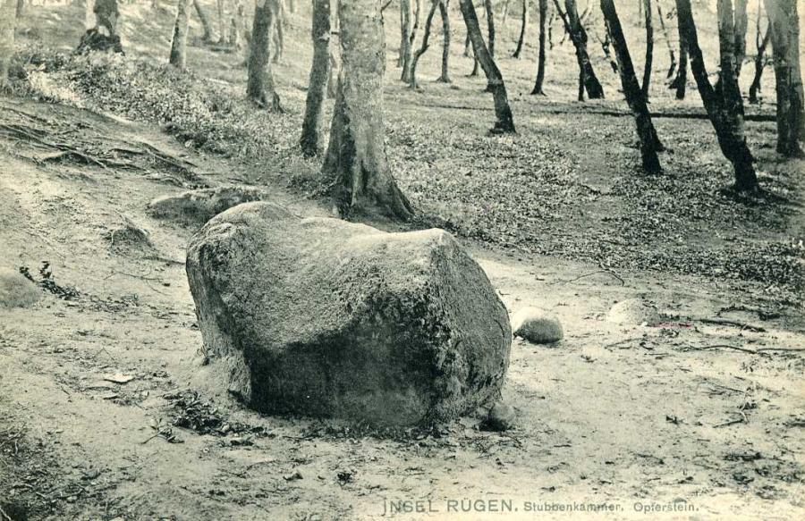 Insel Rügen Stubbenkammer Opferstein