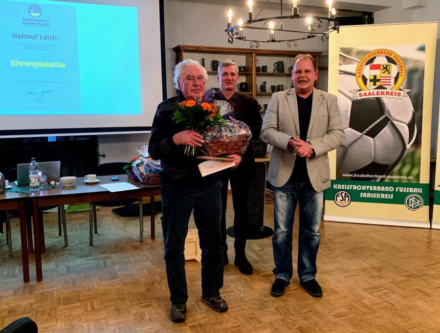 Ehrenplakette FSA Helmut Leich