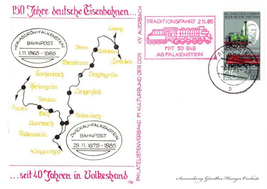 KV Auerbach  150 Jahre deutsche Eisenbahnen … seit 40 Jahren in Volkeshand