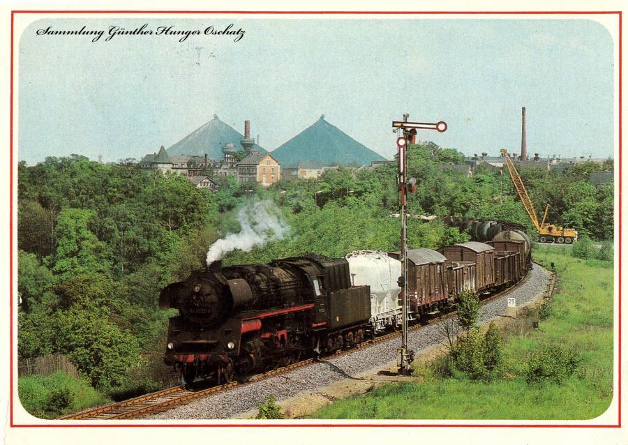 58 3032 mit Güterzug bei Ronneburg