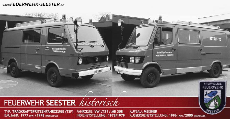 Tragkraftspritzenfahrzeuge TSF von 1977 und 1978