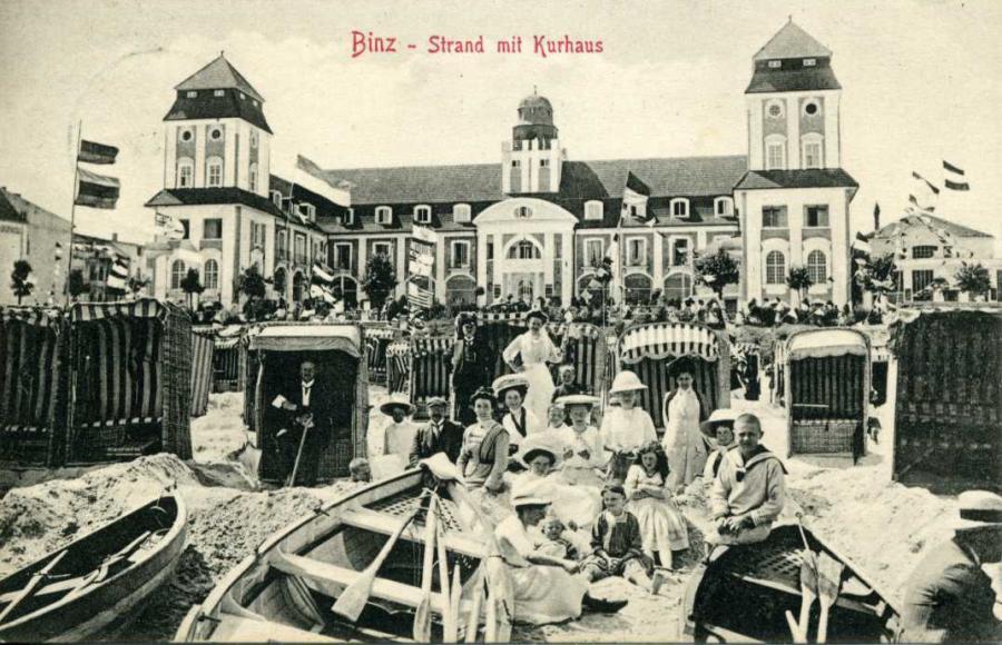 5 Binz - Strand mit Kurhaus 1911