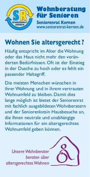 Flyer Wohnberatung Seite 1