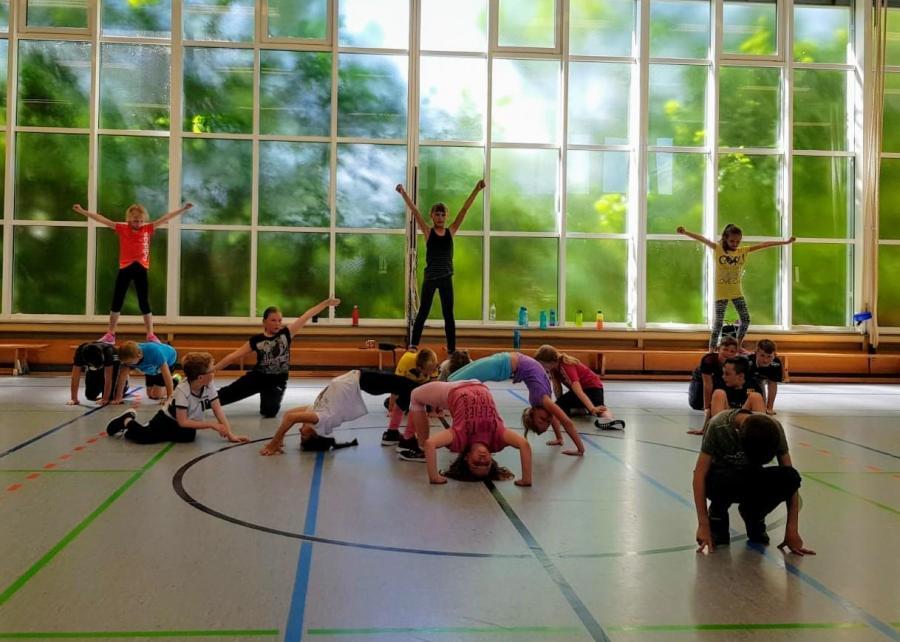 Breakdance mit der 4b