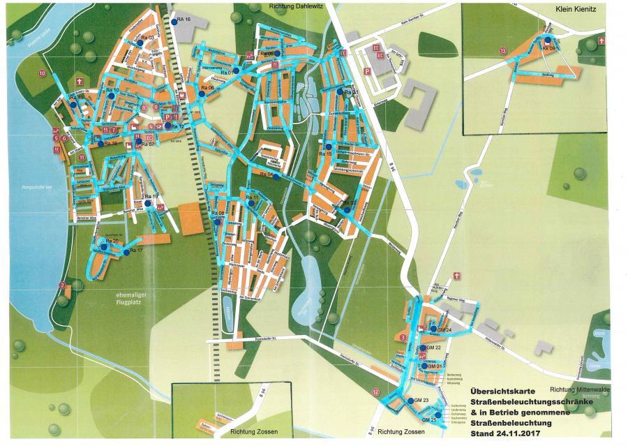 © Gemeinde Rangsdorf - Karte Stand 24.11.2017
