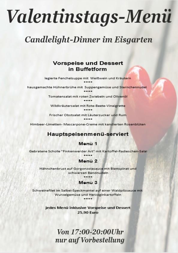 Restaurant Landhaus Remonte 14 02 Valentinstag Spezialmenu