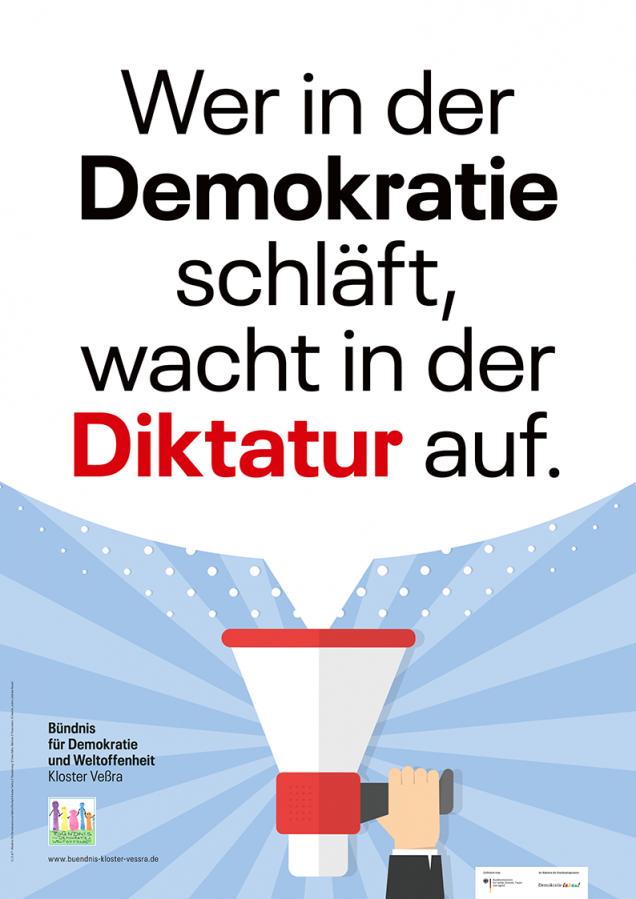 Wer in der Demokratie schläft, wacht in der Diktatur auf