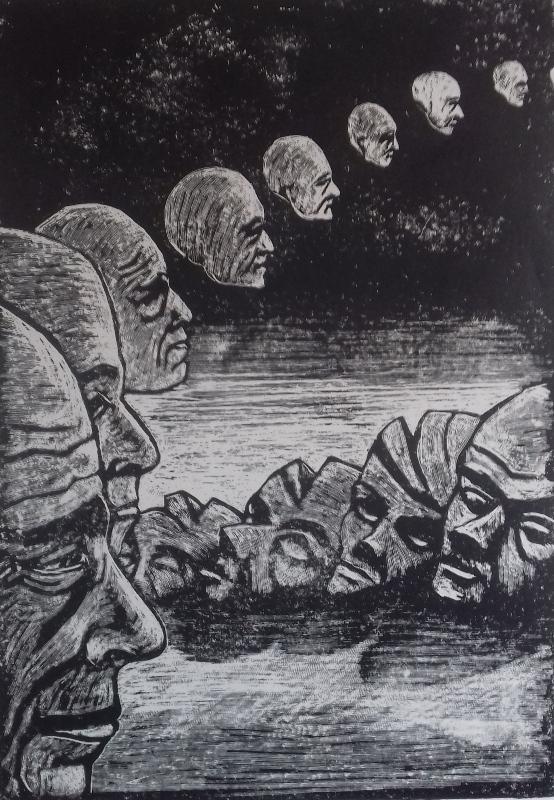 Vergehen1986 Zementsteindruck30 x 42 cm