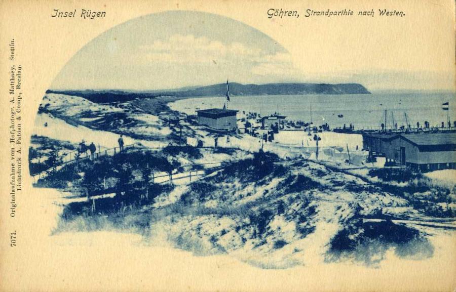 Insel Rügen  Göhren Strandparthie