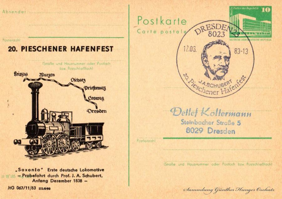 """20. Pieschener Hafenfest  """"Saxonia"""" Erste deutsche Lokomotive"""