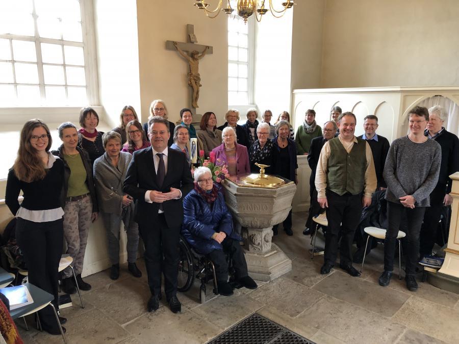 Kirchenchor mit Lektor Frank Seger am 30. März 2019