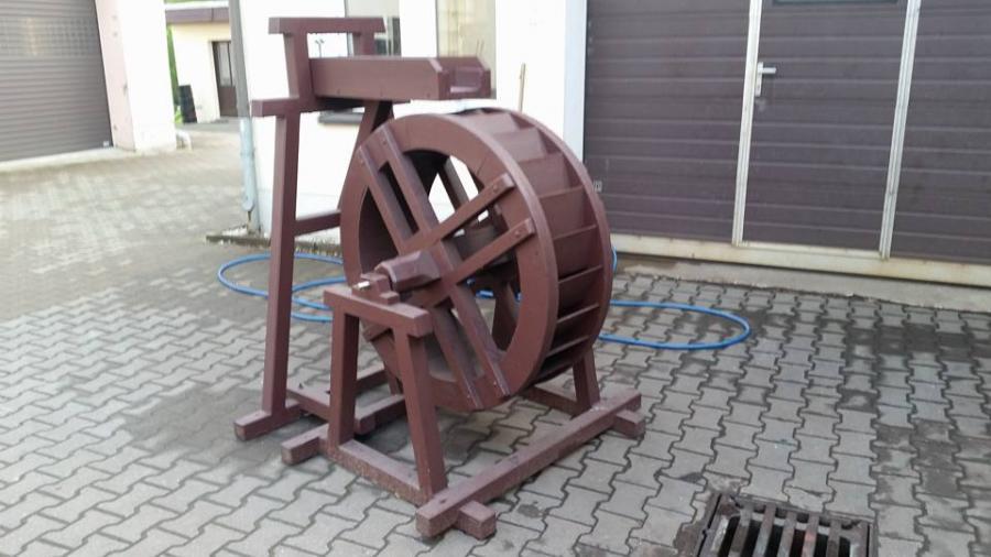 Modellwasserrad zum Deutschen Mühlentag