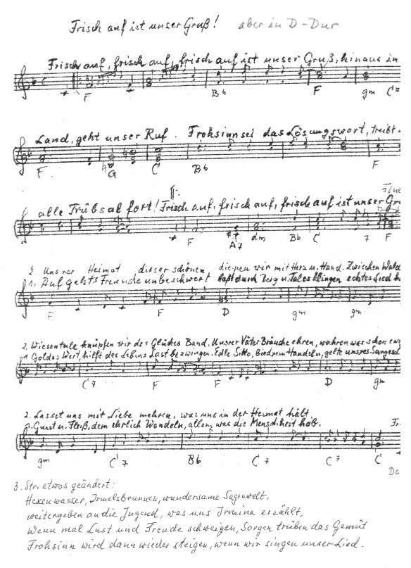 Notenblatt Hymne
