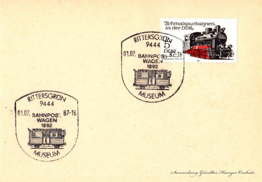 Postkarte  01.07.87