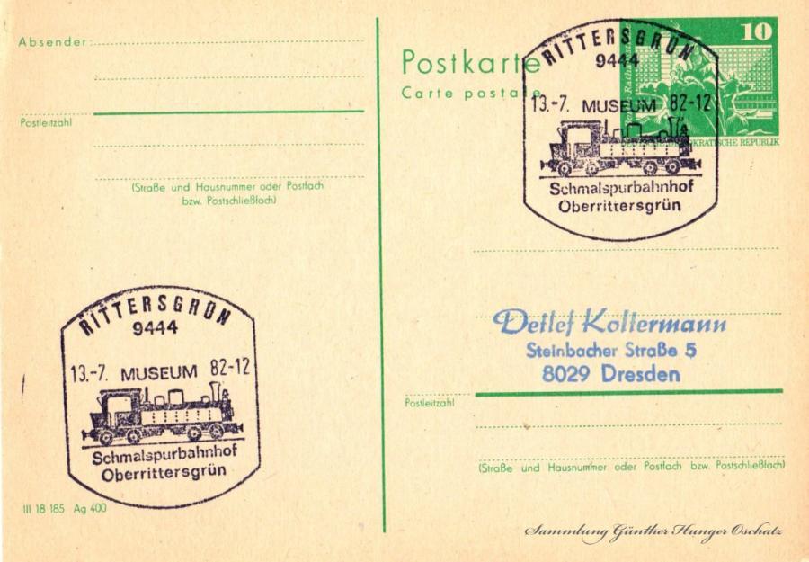 Postkarte carte postale  13.7.82