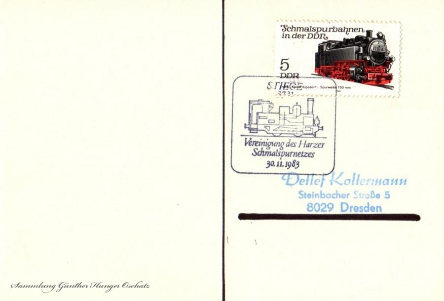 Postkarte  30.11.1983