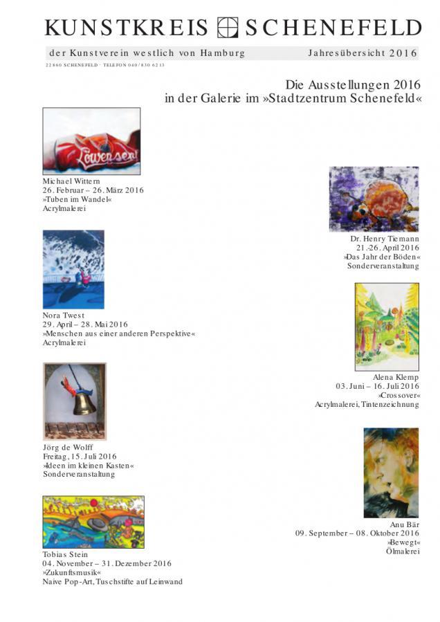 Jahresübersicht Galerie 2016