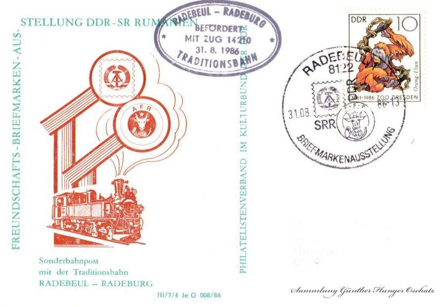 Freundschaft- Briefmarken- Ausstellung DDR – SR Rumänien