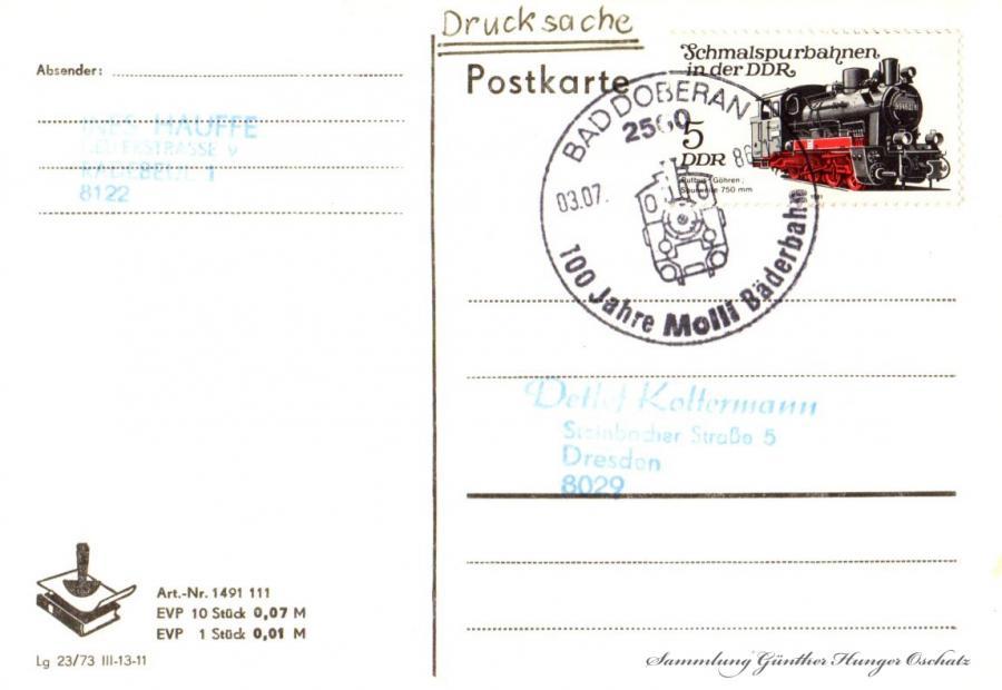 Postkarte  03.07.86