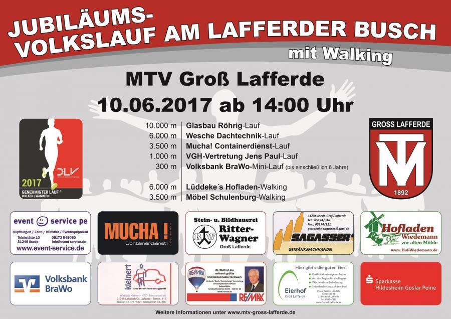 Jubiläums-Volkslauf am Lafferder Busch 2017
