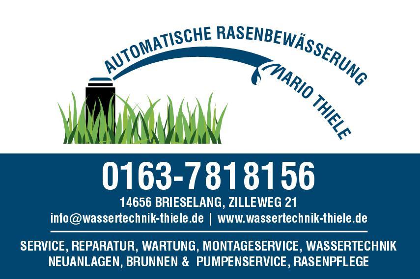 Rasenbewässerung Mario Thiele Logo