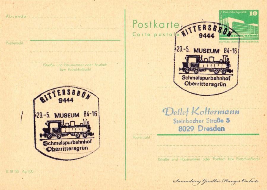 Postkarte carte postale  29.-5.84