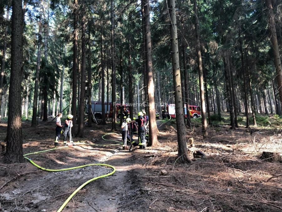 Waldbrand Kohlkuppe