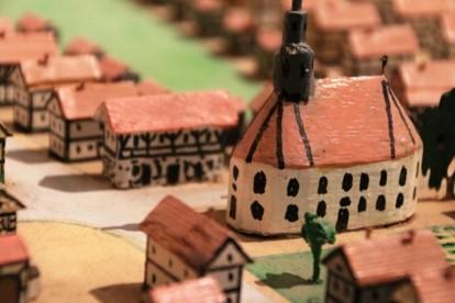 Detail aus dem Diorama