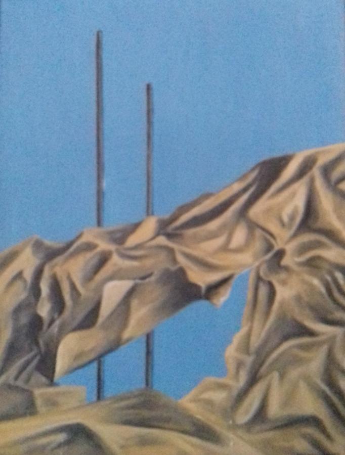 Stillleben  mit Papier1987 Öl auf Hartfaser60 x 62 cm