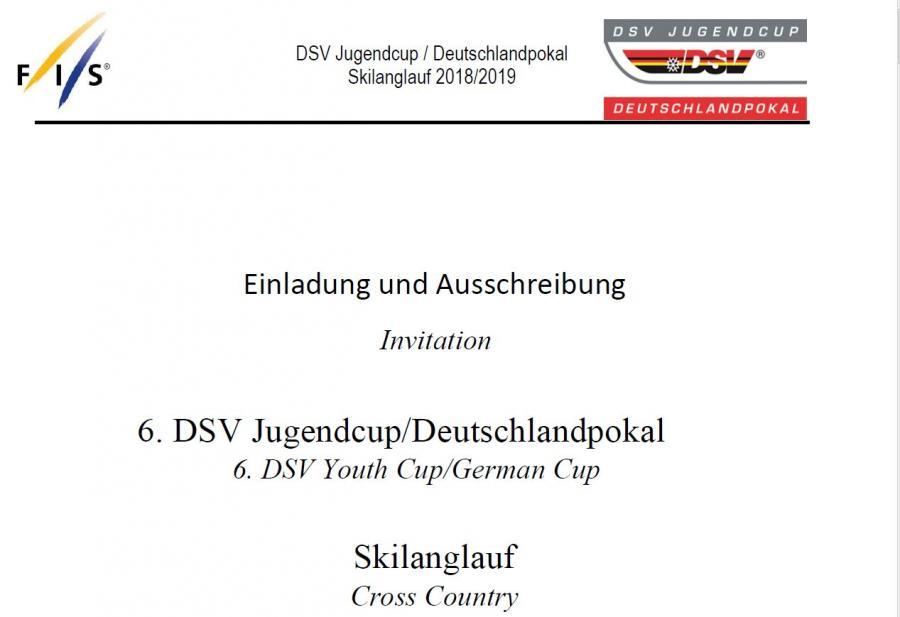 DSV Jugendcup Deutschlandpokal 2019