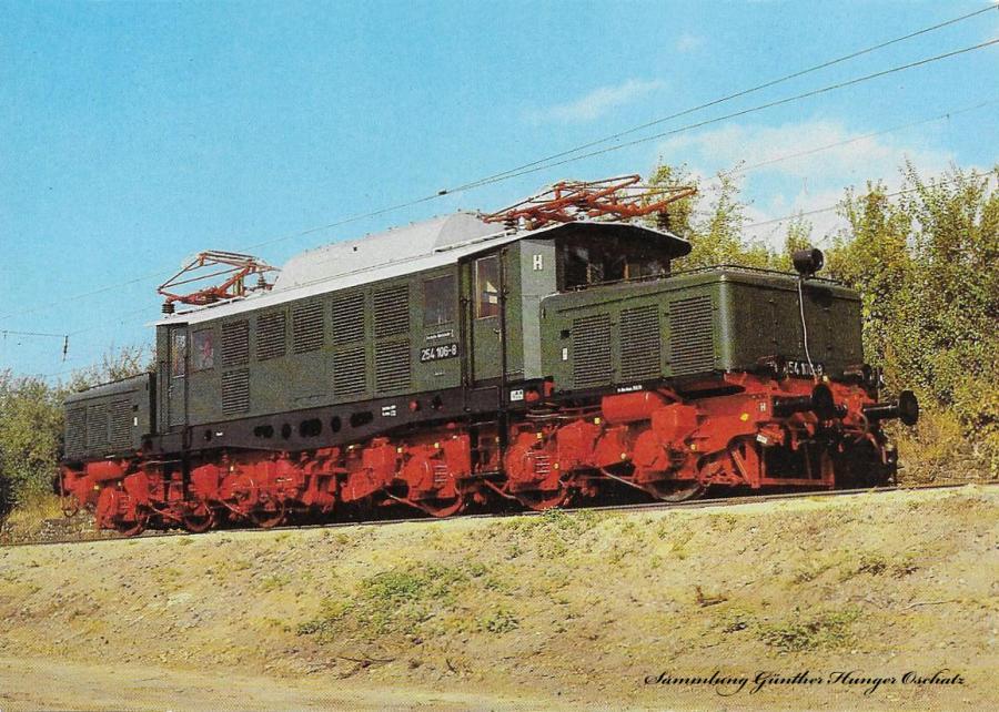 100 Jahre E-Lok Verkehrsmuseum Dresden  Elektrische Güterzuglokomotive der Baureihe 254 (früher E 94)