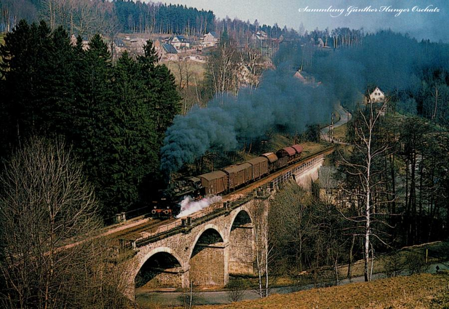 Güterzugdampflokomotive 86 1049 mit Nah- güterzug a