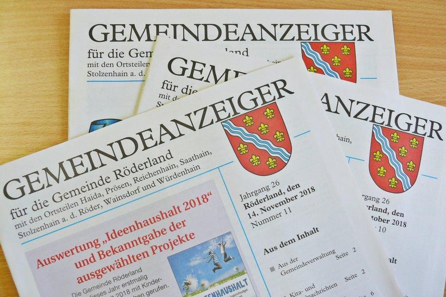 Gemeindeanzeiger und Amtsblatt