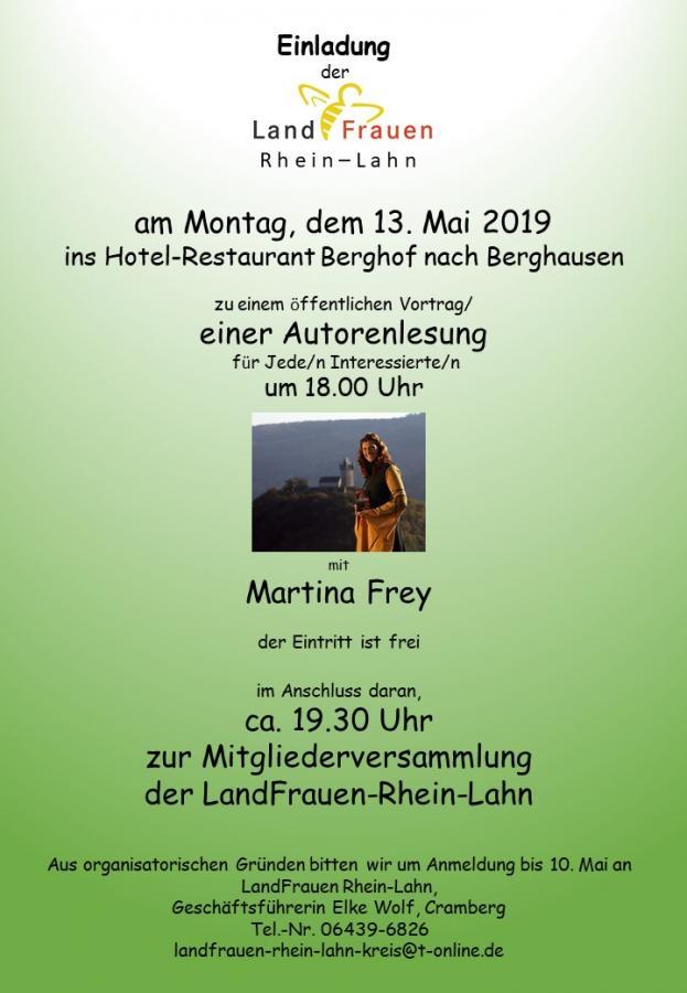 Autorenlesung + Mitgliederversammlung 2019
