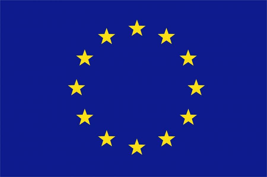 EU Flagge blau