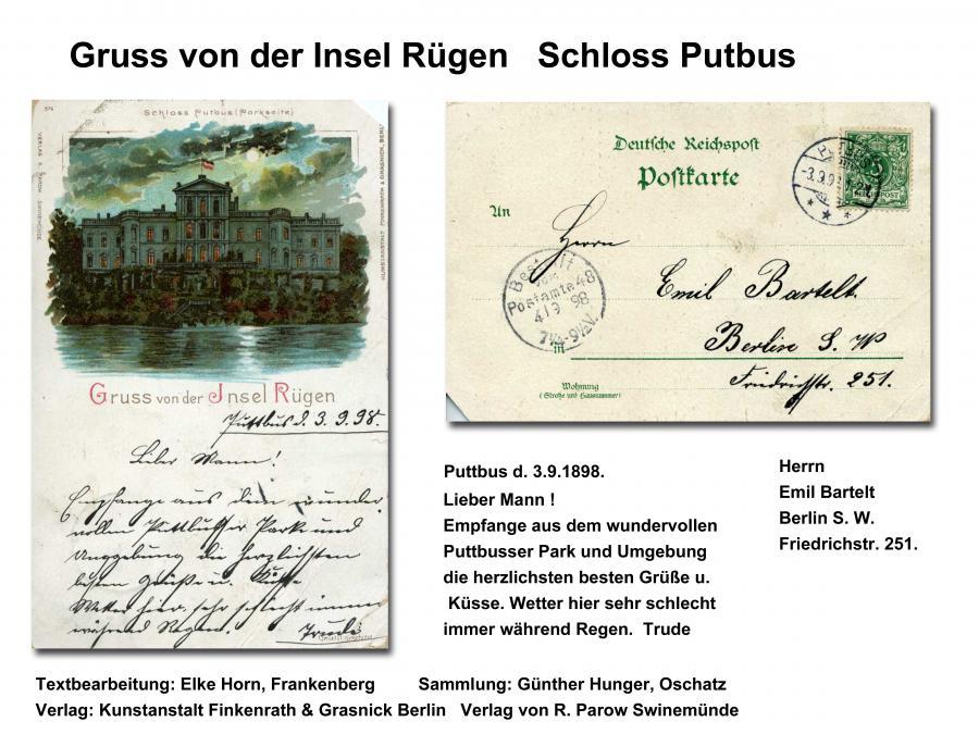 Gruss von der Insel Rügen Putbus