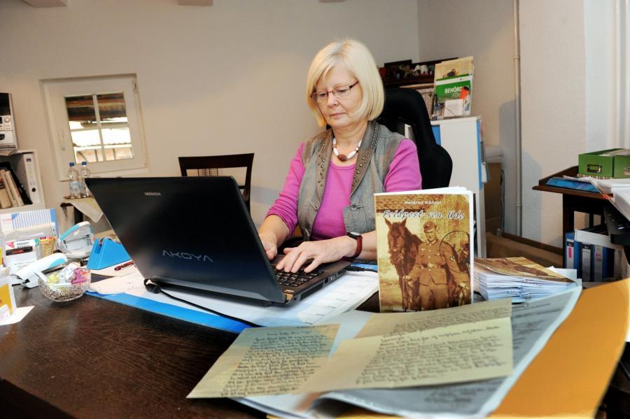 Heidrun Künzel arbeitet bereits an ihrem zweiten Buch mit Feldpostbriefen ihres Vaters Udo Faust.