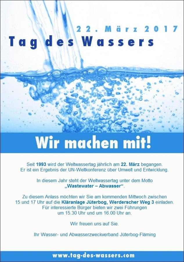 Einladung Tag des Wassers 2017