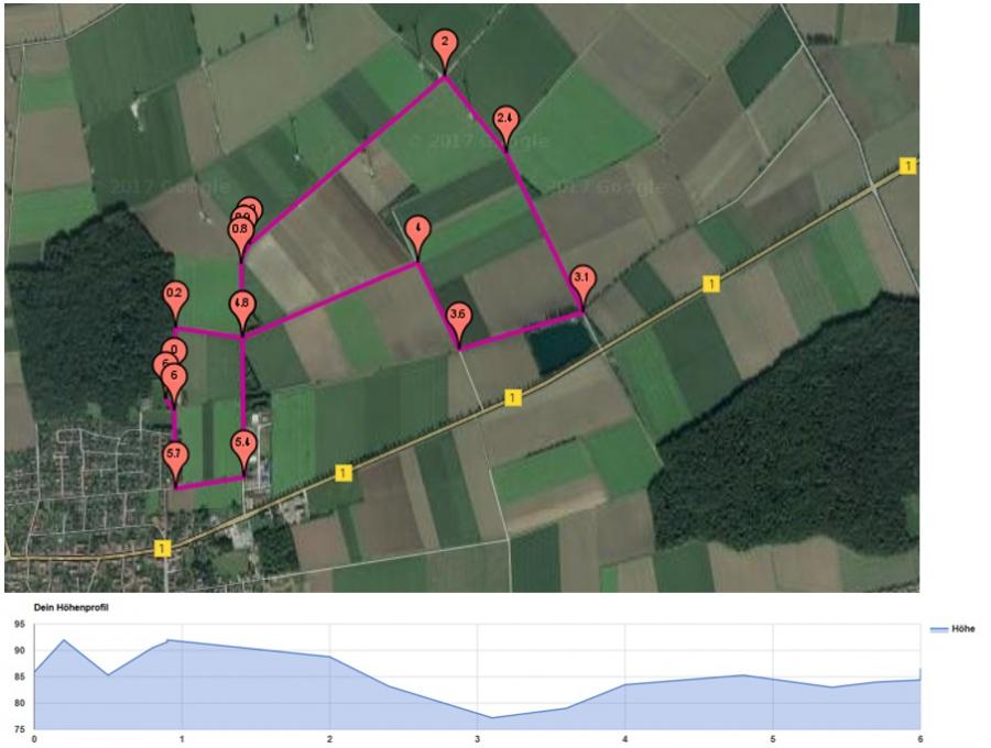 6.000m-Strecke
