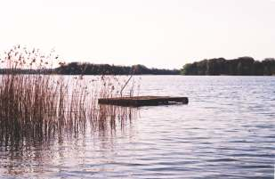 Blick auf den See Klocksin