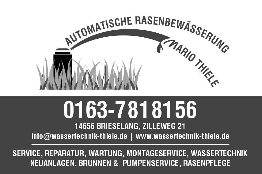 Rasenbewässerung Mario Thiele