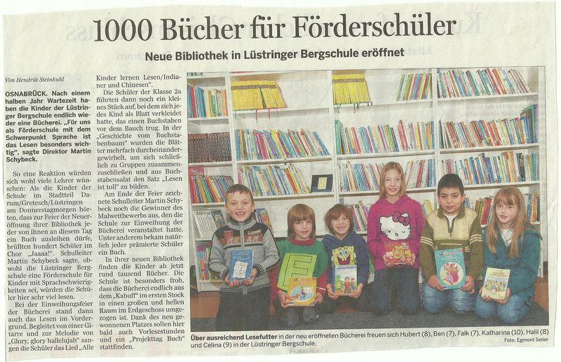Pressemeldung: Bücherei